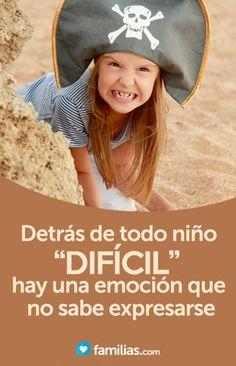 """Detrás de todo niño """"difícil"""", hay una emoción que no ha sabido expresarse"""