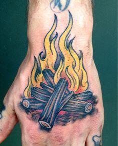 Campfire, by Ben Barnhart @ ACME Ink, Louisville, KY