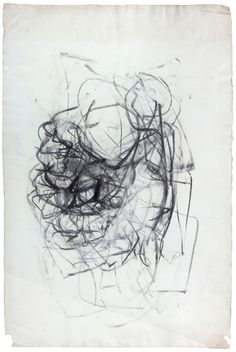 Joan Mitchell Untitled, 1967. Charcoal on paper, 36 x 24 inches #art #drawing #mitchell