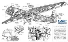 Airspeed Horsa AS51 assault glider WWII.