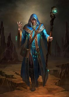 Dungeons and dragons fantasy art wizard by hongsam Fantasy Wizard, Fantasy Male, Fantasy Story, Fantasy Rpg, Medieval Fantasy, Dark Fantasy, Dark Wizard, Fantasy Portraits, Character Portraits
