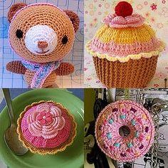 Faça Cupcakes em crochê