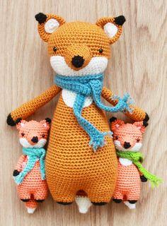 Fox crochet patterns by Little Bear Crochets: www.littlebearcrochets.com ❤️ #littlebearcrochets #amigurumi