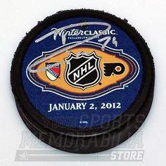 Ryan Callahan New York Rangers Signed 2012 Winter Classic Duel Logo Puck Flyers