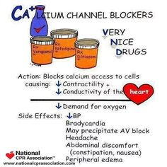 Calcium Channel Blockers #nurseonduty #nurse #nurselife #nursehumor #RN #nationalCPRassociation #nationalCPR