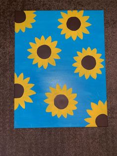Sunflower Canvas Paintings, Small Canvas Paintings, Easy Canvas Art, Small Canvas Art, Simple Acrylic Paintings, Mini Canvas Art, Easy Canvas Painting, Hippie Painting, Diy Painting