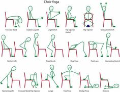 Chair Yoga -- A gentle form of Yoga. With so many types of Yoga available, here is one that most of us can practice. Inversions and complicated maneuvers are not necessary in a Chair Yoga class. All it takes is the motivation to get started.