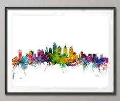 Philadelphia Skyline Art Print 1170 by artPause on Etsy, £11.99