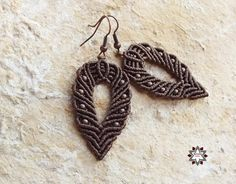 Macrame, knotted earrings, micro-macrame made by Macramotiv