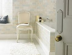 Really like this. Bathroom Ideas | Designed to Inspire by Topps Tiles