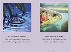 The Kanyen'kehà:ka (Gan-yeh-ga-ha-ga) open all important meetings and gatherings with the Thanksgiving Address. This speech is about being thankful to everything around us for giving us the gifts we need to live and the importance of peace. This is a short version of the Thanksgiving Address. The Kanyen'kehà:ka is one of Six Nations that together are the Haudenosaunee. ( Kids Books - The Thanksgiving Address, Date Released: 2016 )