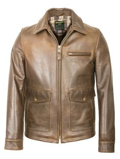 816083c7e3 Schott 563 - Brown Leather Delivery Jacket (Waxy Cowhide)