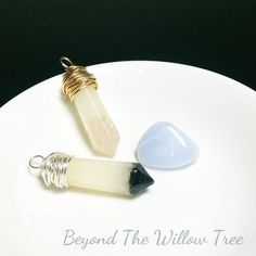 Blue lace agate tipped keepsake crystal - With your choice of personal inclusions