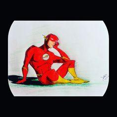 The Flash. The fastest man alive  Colaração em lápis de cor Lápis usados: HB, 2B e 4B