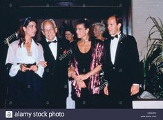 PRINCESS CAROLINE PRINCE RAINIER III PRINCESS STEPHANE & PRINCE ALBERT MONACO ROYAL FAMILY 01 May 1995 Stock Photo