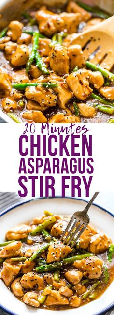 Easy lemon ginger chicken asparagus stir fry is a quick, 30 minute asian recipe that's sure to be a hit with the family. It's low carb and can gluten free too so you can enjoy it guilt-free! Add your favourite veggies to make it super healthy via @my_foodstory
