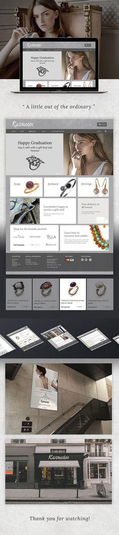 Ravsmeden Jewelry Web Design on Behance Web Design Inspiration, Behance, Jewelry, Jewlery, Jewerly, Schmuck, Jewels, Jewelery, Fine Jewelry