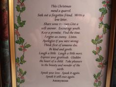 I've put this poem out when I decorate for Christmas every year for about 10 years now.  I love it so much.