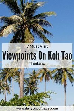 Visiting viewpoints on Koh Tao is becoming a more and more popular activity amongst travellers, and one of the best things to do on this small island. Scattered throughout the hilltops, you will discover some incredible ocean views overlooking the islands thriving green jungle and clear coastal waters.