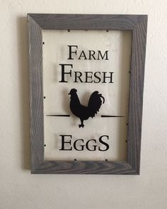 Farm Fresh Eggs Rooster Sign Kitchen Sign By Rbthomedecor On Etsy