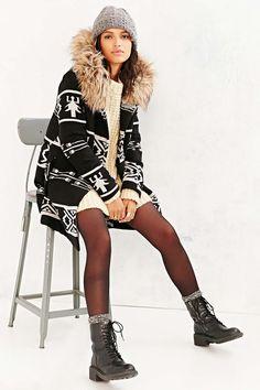 BB Dakota Dean Jacquard  Coat Urban Outfitters