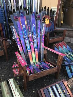 Neon Adirondack Ski Chair