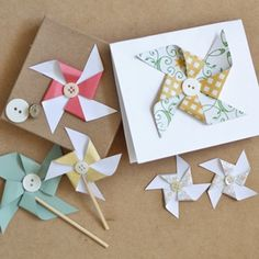 Learn to make your very own pinwheel! They are the perfect embellishments for almost everything.