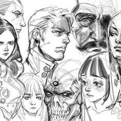 ArtStation - Woo Kim Creature Concept Art, Cyberpunk Art, Portrait Illustration, Life Drawing, Character Design Inspiration, Aesthetic Art, Cool Drawings, Illustrations, Art Sketches