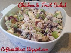 Chicken & Fruit Salad by Coffee With Us 3 #recipes