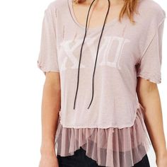 Free People Mauve Tear It Tee Shirt Size 10 (M). Free shipping and guaranteed authenticity on Free People Mauve Tear It Tee Shirt Size 10 (M)Free People Tear It Up Tee  Size Medium - Mauve - ...