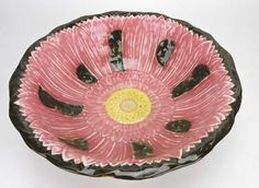 A Rare Zsolnay Majolica Pink Flower Blossom Wash Set - Oct 2016 Flower Blossom, Oct 29, Wedgwood, Fashion Branding, Pink Flowers, Auction, Pottery, Dishes, Shapes