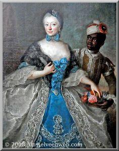 Amöne Sophie Friederike de HRR Rijksgavin von Lövenstein Wertheim Virneburg Limpurg (1718-1779) en Cocquamar Crenequie – later genoemd:Willem Philip Frederik Geschilderd door Rosine Mattieu-Liscewska in 1754 Living in Weesp http://www.vandervegt.be/cocquamar-crenequie-willem-philip-frederik/