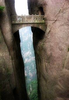 Yellow Mountains China- Bridge of the Immortals