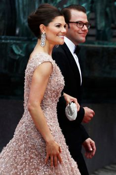 Crown Princess Victoria of Sweden and fiance Daniel Westling arriving at the Government Gala Performance for the Wedding of Crown Princess Victoria of Sweden and Daniel Westling at Stockholm Concert Hall on June 18, 2010 in Stockholm, Sweden. (June 17, 2010 - Source: Adam Osterman/Getty Images Europe)