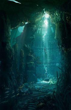 Underwater Drawing, Titanic Underwater, Underwater City, Jellyfish Drawing, Watercolor Jellyfish, Jellyfish Painting, Jellyfish Tattoo, Underwater Tattoo, Underwater Quotes