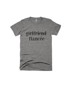 Fiancee Shirt-Engagement Shirt-Graphic by Eastandwillow on Etsy