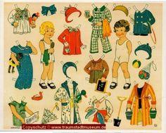 Anziehpuppen 6 verschiedene Ausschneidebogen Reprint 1925 Neuruppiner Museum   eBay