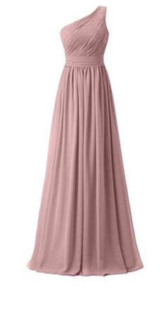 Ever Girl Womens Bridesmaid Chiffon Prom Dresses Long Evening Gowns Blush - Bridesmaid Dresses - Ideas of Bridesmaid Dresses Dusty Pink Bridesmaid Dresses, One Shoulder Bridesmaid Dresses, Prom Dresses, Bridesmaids, Chiffon Dress Long, Long Evening Gowns, Beautiful Dresses, Ball Gowns, Dresser