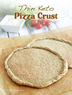 Thin Keto Pizza Crust Pizza Crust recipe keto tortilla dough) - this means you'll need: 1 cup almond flour g / oz) ¾ cup flaxmeal (ground flaxseed) g / 4 oz) ¼ cup coconut flour g / oz) 2 tbsp whole psyllium husks (low carb vegan chia seeds) Keto Pizza Crust Recipe, Keto Bread, Crust Pizza, Almond Flour Pizza Crust, Low Carb Recipes, Real Food Recipes, Healthy Recipes, Pizza Recipes, Baking Recipes