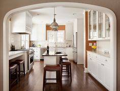 Bright and open Whitefish Bay Kitchen in our recent remodel www.remodelwithsaz.com