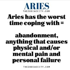 Aries: But - we handle it like a Champ that we are...