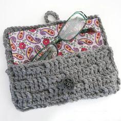 Crochet Eyeglasses Case Tutorial - Dream a Little Bigger