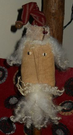 Primitive Santa Make Do by RustyThimble on Etsy, $15.99