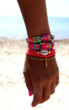 neon  bracelets, my summer obsession! <3