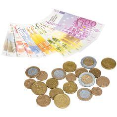Des billets plastifiés et des pièces pour régler ses commissions et se familiariser avec la monnaie.
