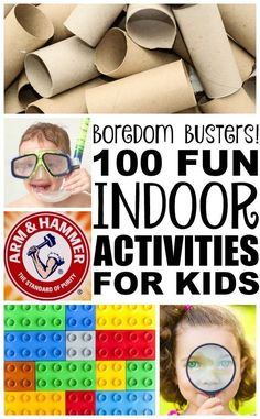 Looking for indoor activities for kids for bad weather days when you're stuck inside? We've got you covered. These easy rainy day activities are perfect for toddlers, preschoolers, kindergarteners, and elementary-aged kids who are stuck at home, and while we've included lots of no mess ideas, we're all about getting dirty and having fun!