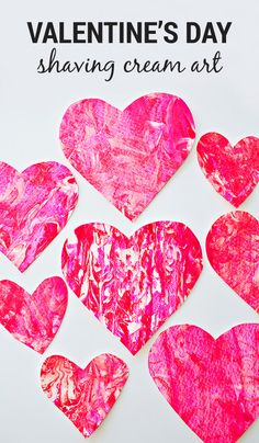 valentines day crafts Try out shaving cream art with your kids with this Heart Shaped Valentines Day craft! Grab red and pink paint to start creating this fun activity with your loved ones. Valentine's Day Crafts For Kids, Valentine Crafts For Kids, Toddler Crafts, Preschool Crafts, Diy Valentine, Preschool Shapes, Infant Crafts, Printable Valentine, Homemade Valentines