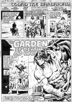 Conan the Barbarian page 1 by John Buscema and Ernie Chan, in Andrew Clarke's CONAN - Conan the Barbarian - Marvel - Issues 1 to 99 Comic Art Gallery Room Fantasy Heroes, Fantasy Art, Roman, John Buscema, Conan The Barbarian, Vintage Comics, Comic Covers, Comic Artist, Art Gallery