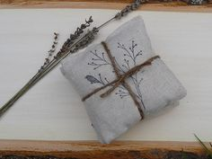3 Dryer Sachets All Natural Organic Lavender Linen by NaturesLoft