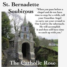 So wonderful ....don't forget to send your Guardian Angel on Holy Missions - they are waiting for you to ask Catholic Religion, Catholic Quotes, Catholic Prayers, Catholic Saints, Religious Quotes, Roman Catholic, Catholic Art, Bernadette Of Lourdes, Santa Bernadette